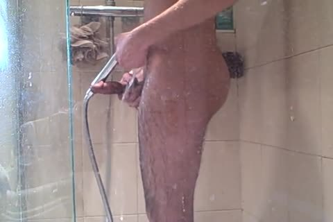 Me, wanking In The Shower
