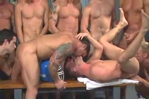 Locker Room gangbang