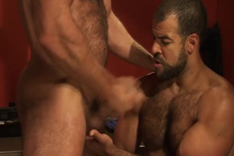 A hairy Hung darksome Skinned Bear receives ejaculated From A Great Member And wazoo dril Action
