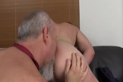 messy old chap slams A Younger fellow's anal At The Office