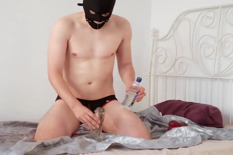 Gagged fake penis Play