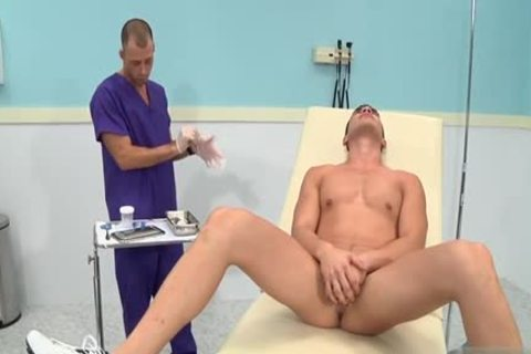 big ramrod Doctor three-some With cumshot