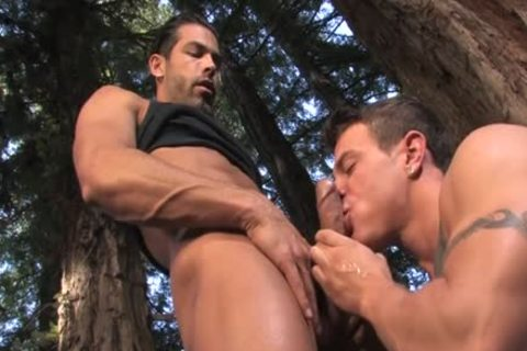 large penis homosexual Outdoor Sex And jizz flow