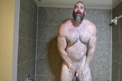 Muscle Daddy Rick Flex jack off & cum