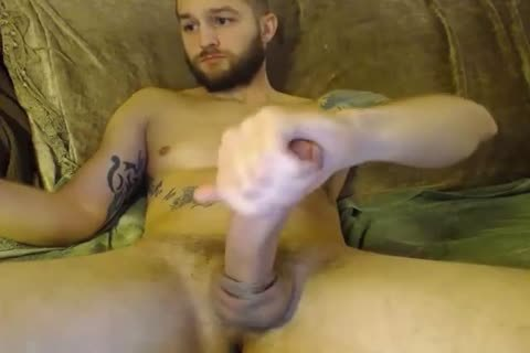 sleazy straight Hunk Jerks Off And Fills His wazoo With A wazoo-ramming