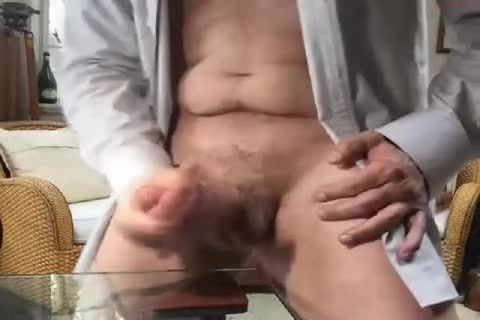 large Dicked daddy wanking 009