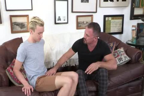 Creepy neighbour Cums Inside A blonde boy