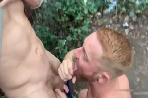 Two Brit boyz Have Sex In Woods Third guy Joins In
