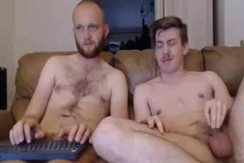 Two old guys Masturbate Live
